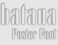 Zabatana | Poster font