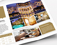 Tri-fold: Boutique Hotel InDesign Brochure
