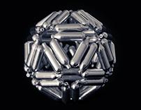 Chrome Icosahedron