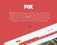 FOX Web Portal Creative Re-design