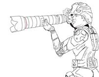 Soldados de la información visual