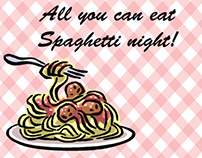 BSA / VFW Pasta Night Flyers