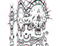 Shiba Alien Skull