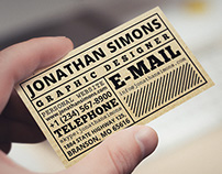 Cardboard Ticket Business Card