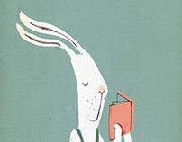 Mr. bunny & book