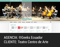 Sitio Institucional Teatro Centro de Arte