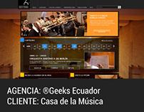 Sitio Institucional Casa de la Música
