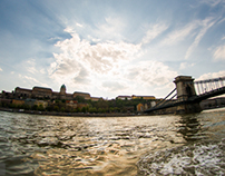 Budapest from a water taxi