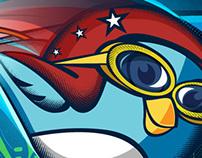 Mascote e identidade do site meUSA