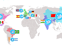 Twitter Countries - A Simple Infographic