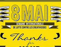 8 Mai - International Week Against Creativicides