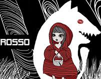 """Illustrated Book cover """"cappuccetto rosso"""""""
