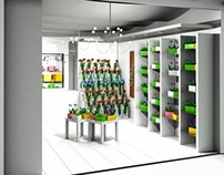 3D visualistion of flower store