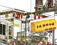 Fish Market Cross Section