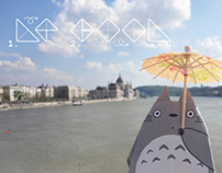 COVER DESIGN 2013 | LE COOL | TOTORO VISITS TO BUDAPEST