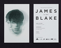 James Blake DJ set flyer