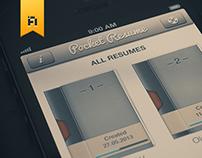 Resume app redesign