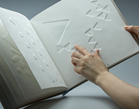 The book for seeing and sightless. Paper embossing.