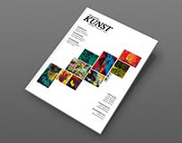 """Redesign of the danish art magazine """"Kunst."""""""