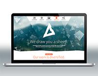 Logo and website design for the Kaleidea Studio