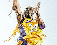 Kobe bryant watercolor