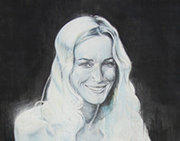 Reeva (2013) Colored Pencil on canvas 150 x 250 cm
