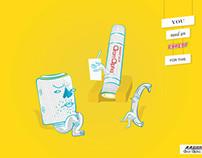 Aron Alpha Glue Print Ad.