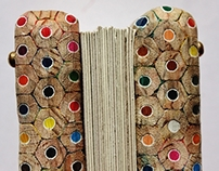 Bookbinding of coloured pencils