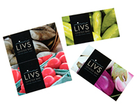 Liv's Oyster Bar Business Cards