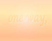 one way,