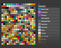 Vol.1 of Photoshop Swatches Library for Flat UI Design