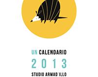 First Year Anniversary Studio Armad'illo Calendar 2013