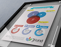 3Hand Office Posters Design