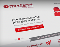 Medianet website redesign
