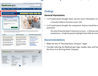 Mobile & Desktop Usability Test: Nursing Home Compare