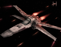 Star Wars X Fighter Model