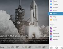 Y! by Yahoo – iPad App Design
