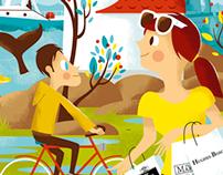 Northshore magazine illustration