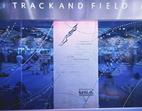 National Track and Field Hall of Fame Graphic Design