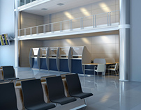 Office partitions - airport
