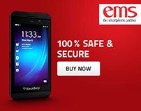 BlackBerry z10 web banners