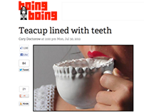 Teeth Teacup, 3D Printed Ceramic