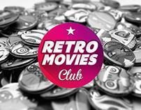RETRO MOVIES CLUB BADGES.