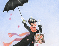 Mary Poppins for Houghton Mifflin Harcourt
