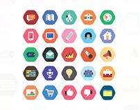 Flat style cool icon set
