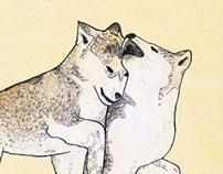 Husky Puppy Illustration