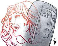 """Neil Gaiman """"Feminine Endings"""" illustration"""