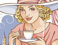 "Illustrations for ""Korol Slastion"" (confectionery)"