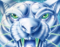 Cyber Panther Poster