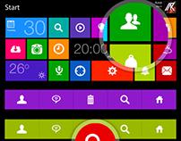 Window8 Metro GUI Kit FREE PSD